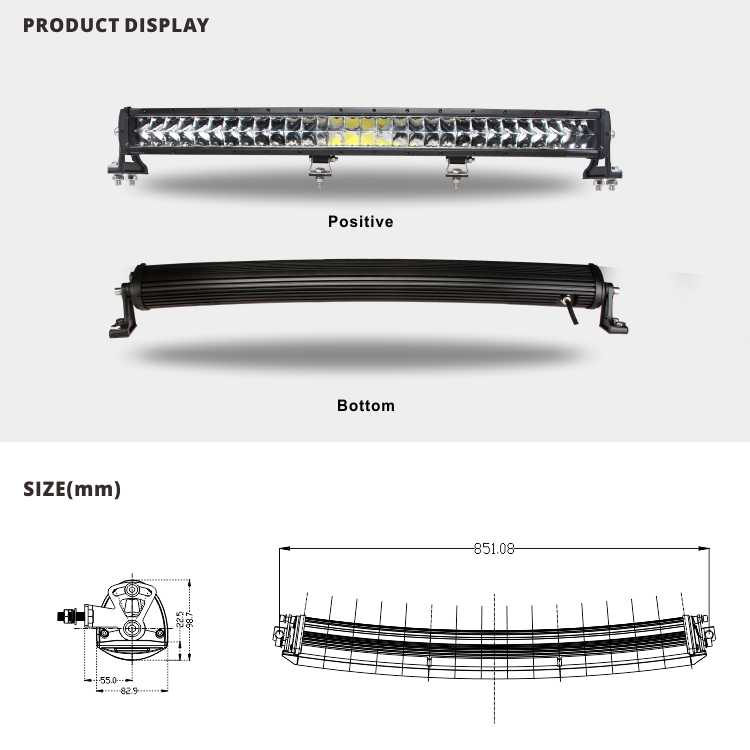 "Cheap 22"" curved led light bar utv car lights auto lighting system for tractor truck"