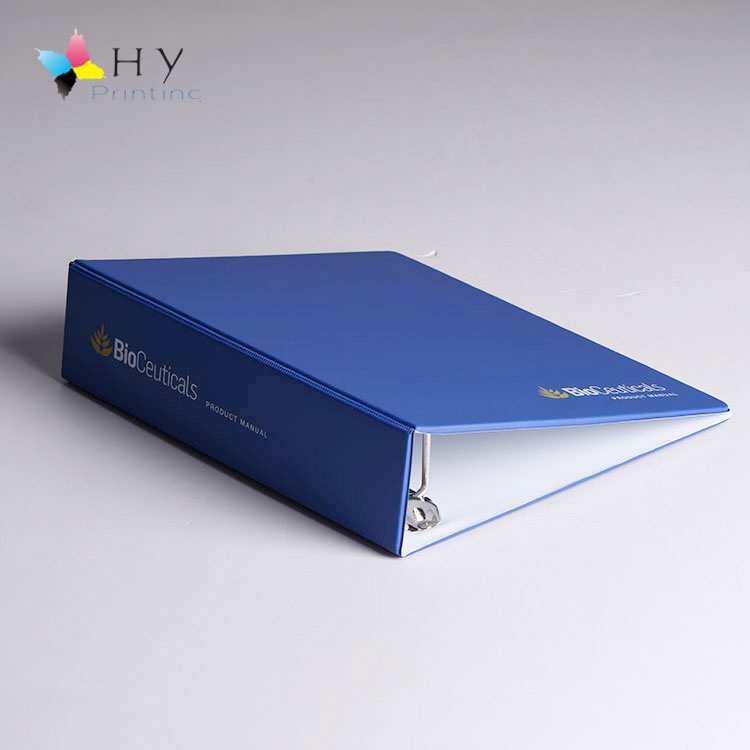 Personalised Imitate leather File organizer Polypropylene binder with 4 fixed rings