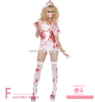 7e8a30b266fd0 Adult Ladies Horror Zombie Women Sexy Halloween Bloody Nurse Cosplay Costume