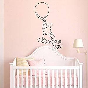 Wall Decal Decor Winnie The Pooh Vinyl Decals Clic Bear Piglet Balloon Nursery Baby Room Art Sticker White 46 H X27 W