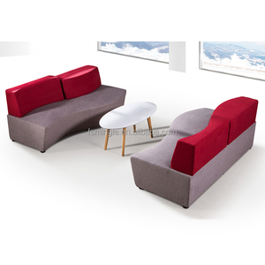 Fabric type assorted couch sofa/association souch sofa with free combination of designs
