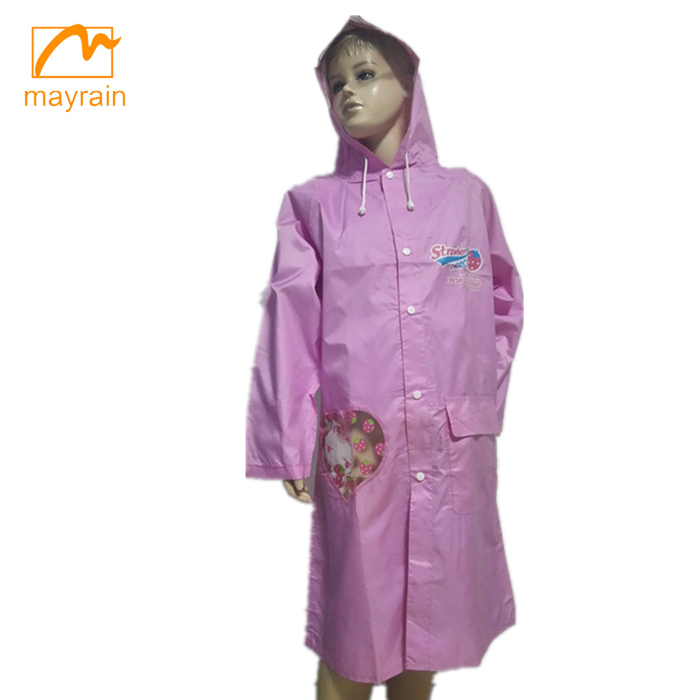 Top Quality Fashion Polyester Fabric New Child's Raincoat