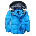2016 New Winter Children s Boys Down Parka Coats Down Jacket Fshion Solid Hooded Outerwear Boys