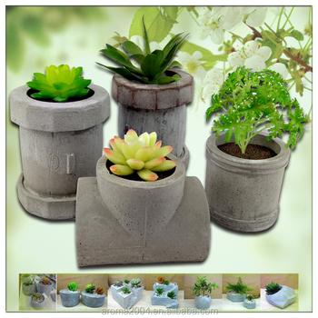 Unique Planters Pipe Garden Flower Pots Concrete