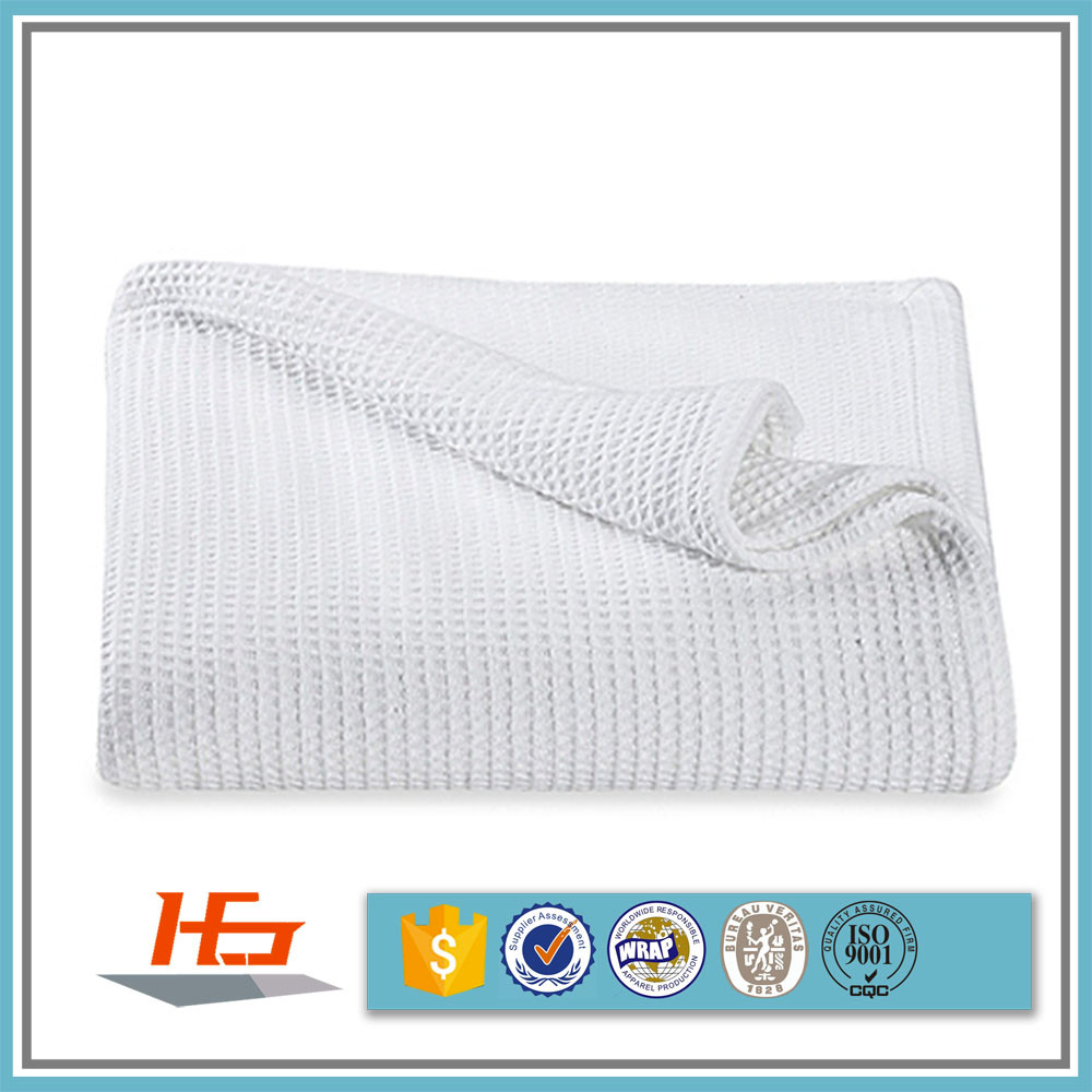 Wholesale China Supplier Single Size Cotton Crochet Waffle