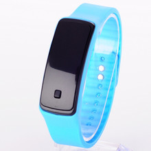 China factory cheap price adjustment coloful custom logo led rubber reloj digital watches