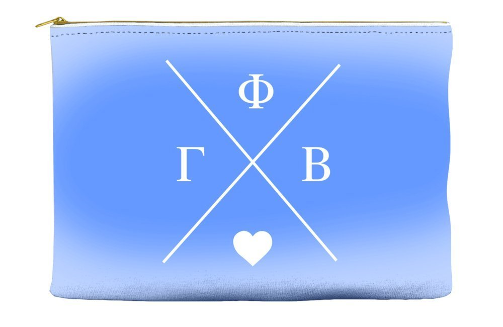 Gamma Phi Beta Hipster Logo Purple Cosmetic Accessory Pouch Bag for Makeup Jewelry & other Essentials