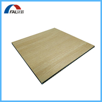 Wood Grain Aluminum Corrugated Core Sandwich Panel For Exterior or Interior Wall Cladding