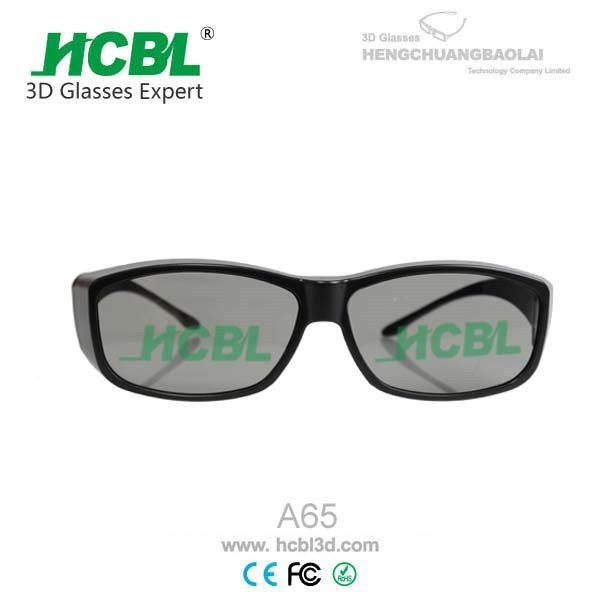 A65 Adult Size Passive Linear Polarized 3D Glasses A65 Model On Sale