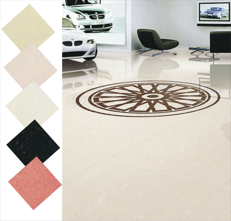 Nano Glossy Elegant Marbonite tiles for Supper Market with high traffic