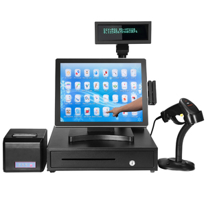 15 Inch Flat Touch Screen capacitive touch Dual POS System Used for Restaurant