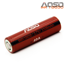best 18650 vaping battery Aosibo imr 18650 40a 3.7v 3100mAh lithium titanate battery