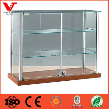 Floor Standing Showroom Glass Display Cabinet With Lock