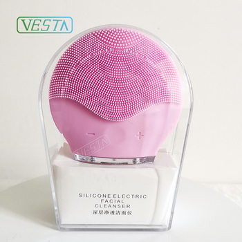 Vesta 2019 Electric Silicone Facial Cleansing Brush Face Massager Cleanser Facial Cleaning Brush Facial Brush for Pore Cleansing