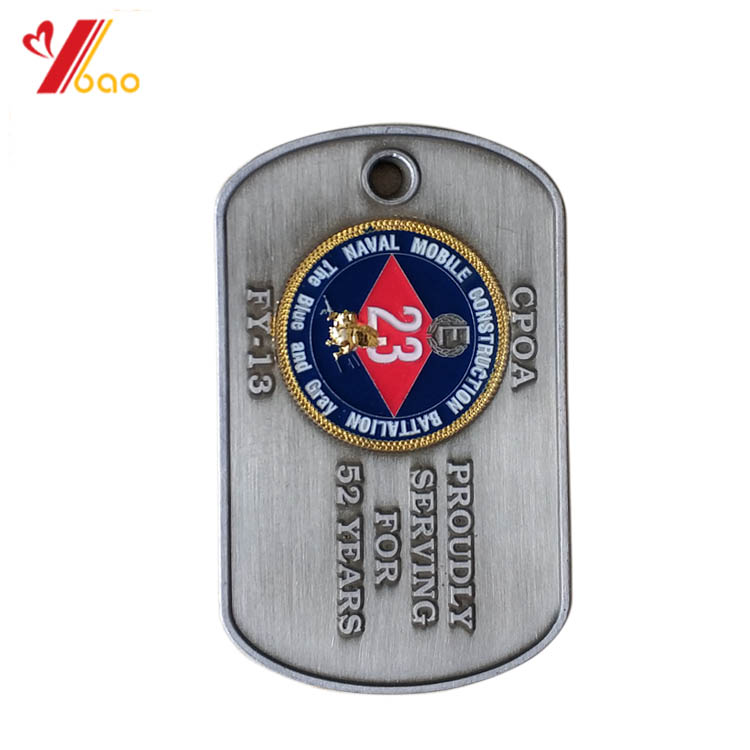 156a9dab57 Brass dog tag national naval officers association celebrating epoxy badge  antique bronze plated