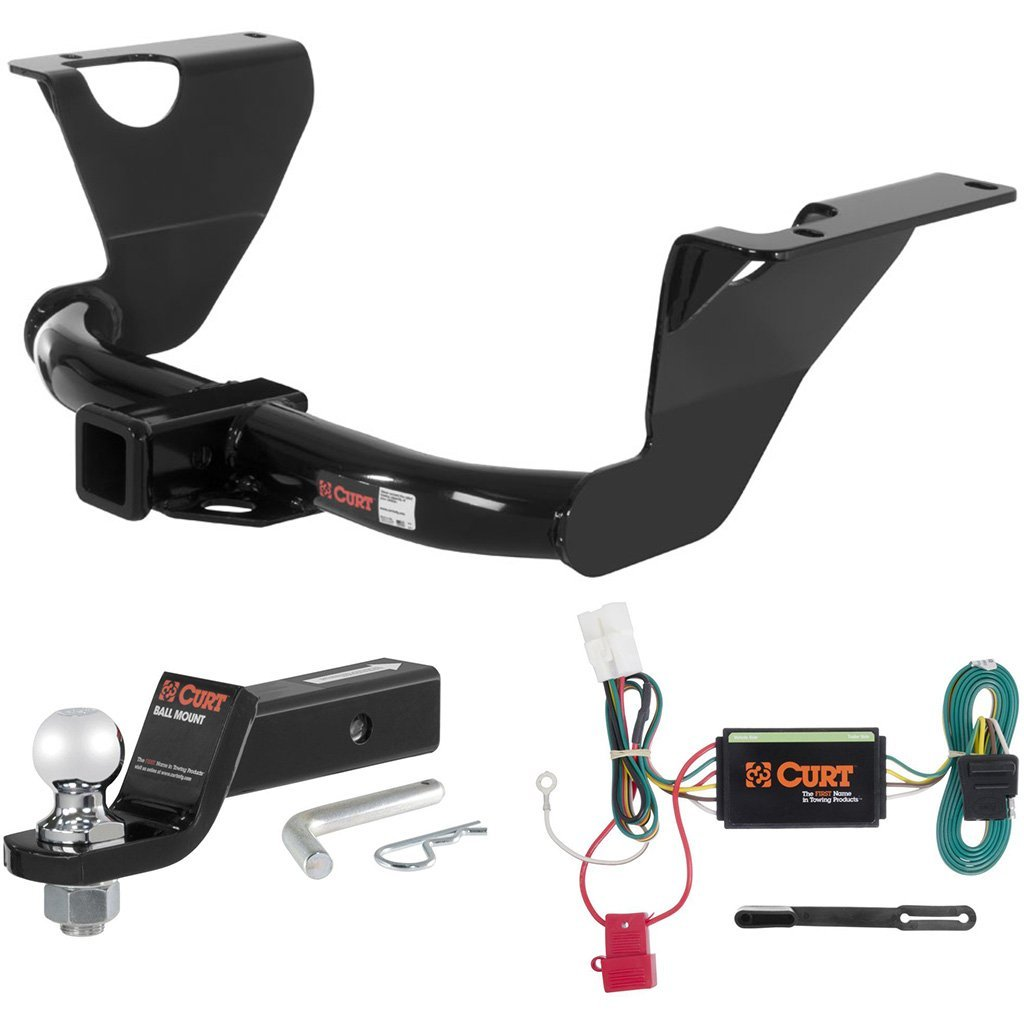 """CURT Class 3 Trailer Hitch Tow Package with 2"""" Ball for 2010-2015 Subaru Outback"""