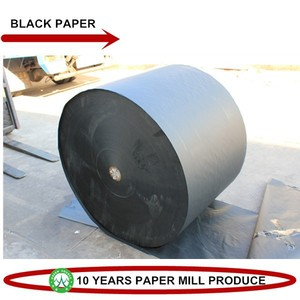 black paper reel for printing high quality paper board 80gsm roll paper