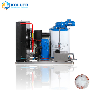 China supplier 1 ton flake ice maker machine with dry ice for fishing vessel