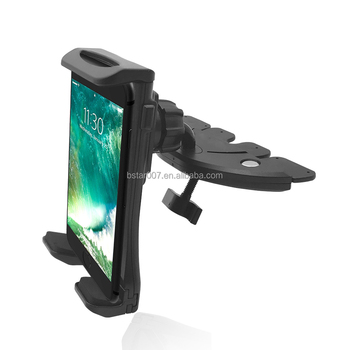 New Universal Adjustable Tablet Mount for Car in Cd Slot 7-10.5 inch for ipad Holder for Cell phone Stand
