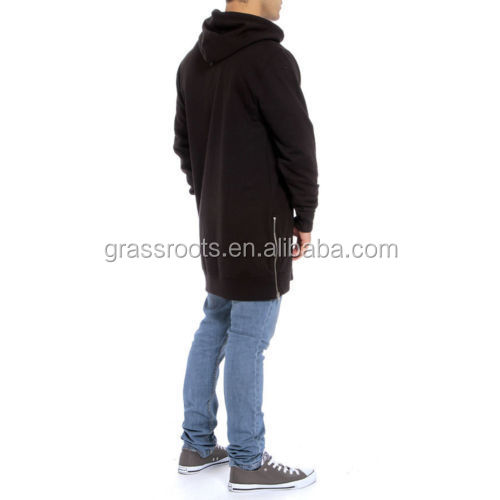 1ae18bc3 Hot sale hoodie with side pockets OEM plain mens tall hoodies with side zip