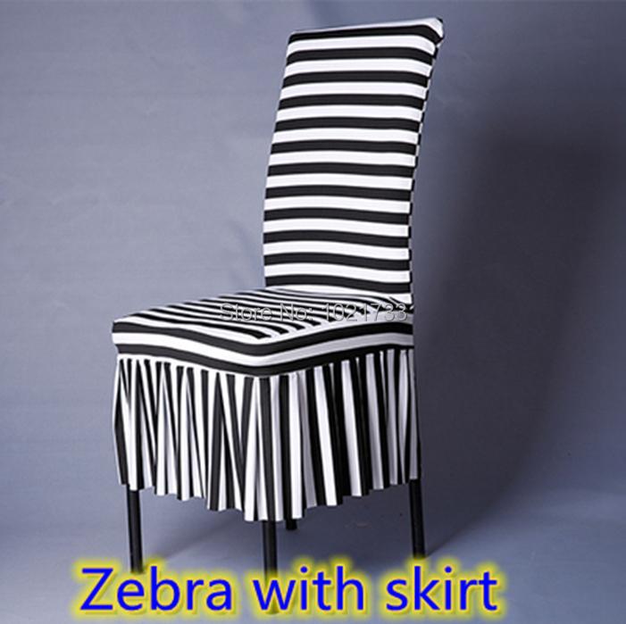 Stripe Chair Covers Zebra Print Black White Striped