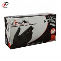 Latex Free Disposable Powder Free Black Pink Blue Nitrile Gloves