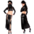 Women Sexy Wet Look Gothic Faux Leather Halloween Ninja Costume Lace-up Vinyl Clubwear Lingerie Set