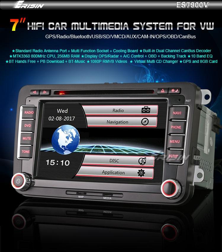 Erisin Es7900v Car Radio Dvd Gps Navigation System For Polo V 6r
