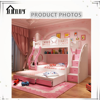 Princess Bunk Bed Children Bunk Bed For Girl And Boy Buy Cheap