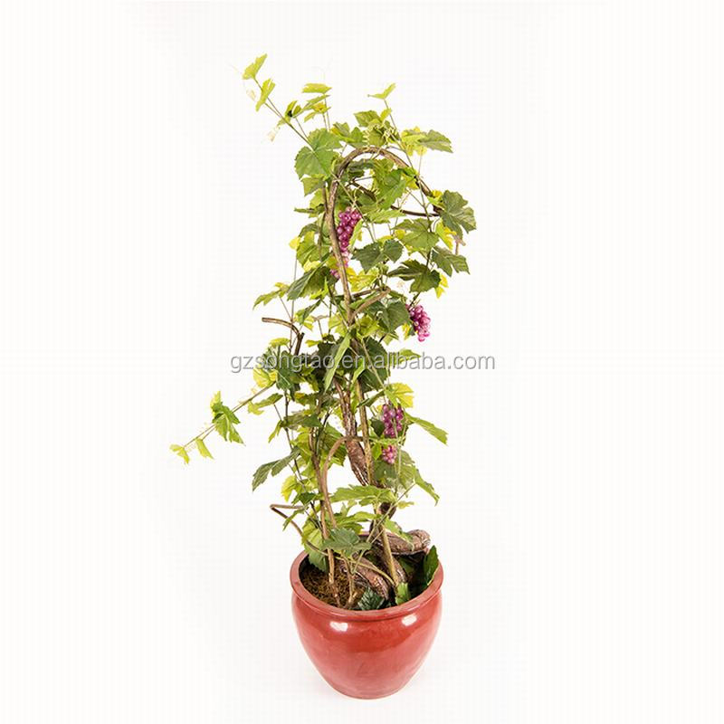 Home decor artificial purplre grapes tree bonsai fruits tree potted plant