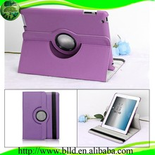 Purple with 360 degrees rotating stand for ipad air 2 leather case