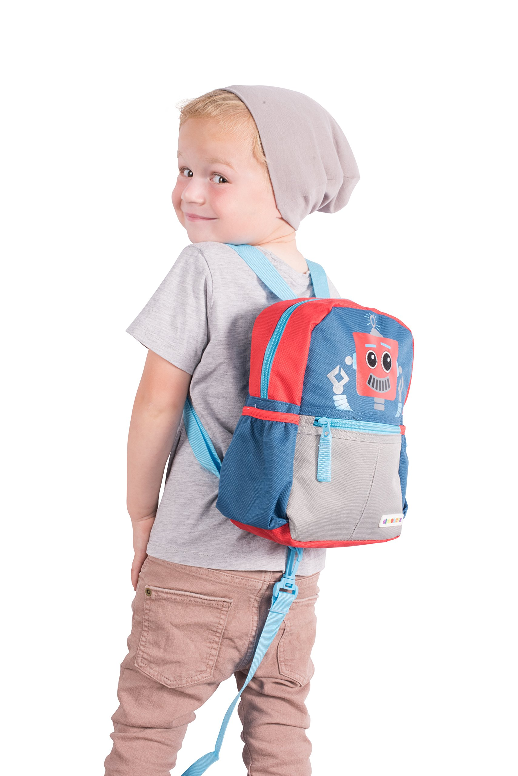Get Quotations · Alphabetz Robot Toddler Backpack with Safety Harness  Leash f5401e6cfd116