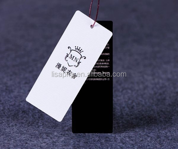 High Quality Custom Paper Printed China Hang Tag Clothing Tags