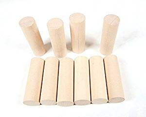 StarMall Set of 10 Montessori Teaching Aids Material Unfinished Wooden Craft Blocks Cylinders