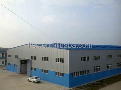 Metal roof structure steel workshop building