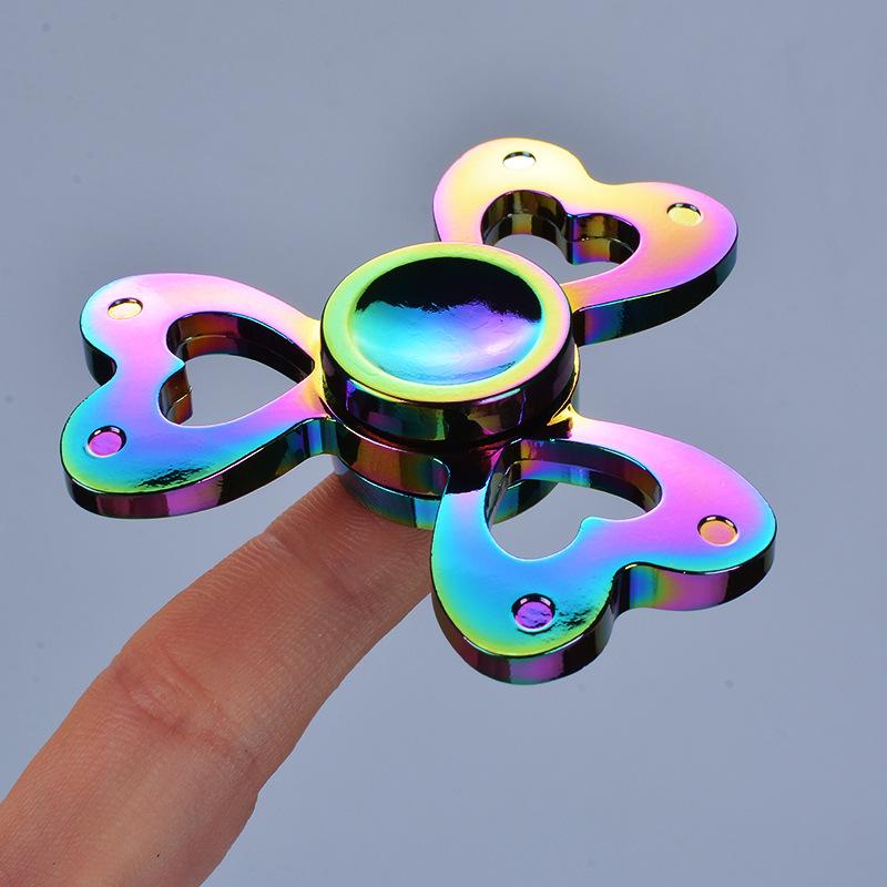 Wholesale Stainless Steel Carbon Fiber Finger Fidget Spinner Rings Toy
