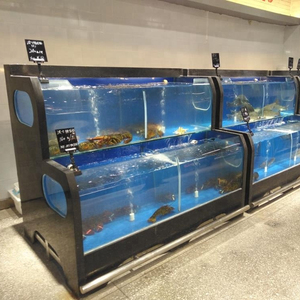 Dingfeng customized supermarket or restaurant chiller marble live lobster tank aquarium