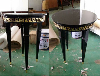 Greek Key Coffee Table Lamp Table