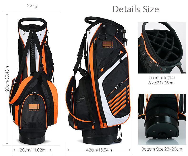 Newest design Embroidery logo 14 dividers Golf Stand Bag for golf bag