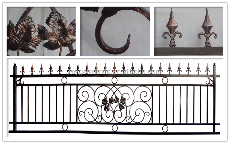 Cheap Wholesale Ornamental Used Wrought Iron Fence Panels