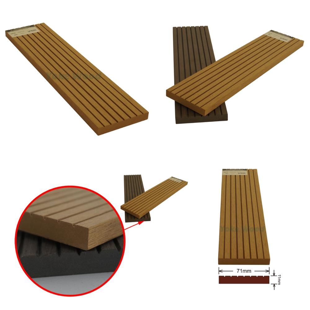 Building Materials Wood Plastic Composite House Exterior Wall Decking 3D PVC / WPC Board 10mm Panel