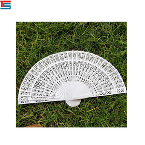 custom chinese wedding souvenir manual foldable wood fans wooden hand fan sticks with a pouch
