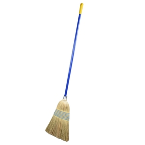Natural Sorghum Brooms with Wooden Handle Garden Brooms