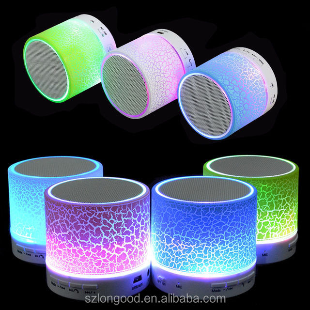 Top 10 Best Portable Mini Wireless Bass Stereo Waterproof Led Light Bluetooth Speaker With Tf Usb Fm Radio