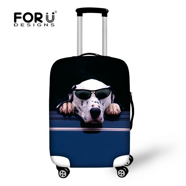 FOR U DESIGN Pets & Animals Protective Suitcase Covers Luggage Bag with Custom Animal Pattern