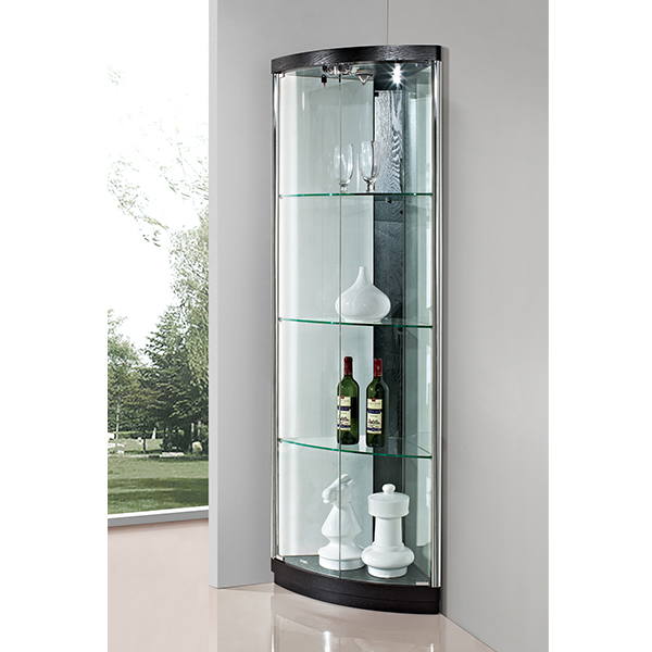 made in china pas cher prix salon moderne conception coin rond en verre vitrine pour bijoux. Black Bedroom Furniture Sets. Home Design Ideas