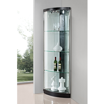 Living room glass display cabinets for Cheap living room cabinets