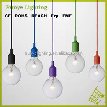 E27 Pendant Lighting Ings Use Fabric Flex Cord Colorful Cable Wire