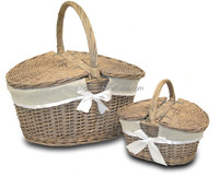 100% Warranty Customized natural wicker empty picnic basket /gift basket