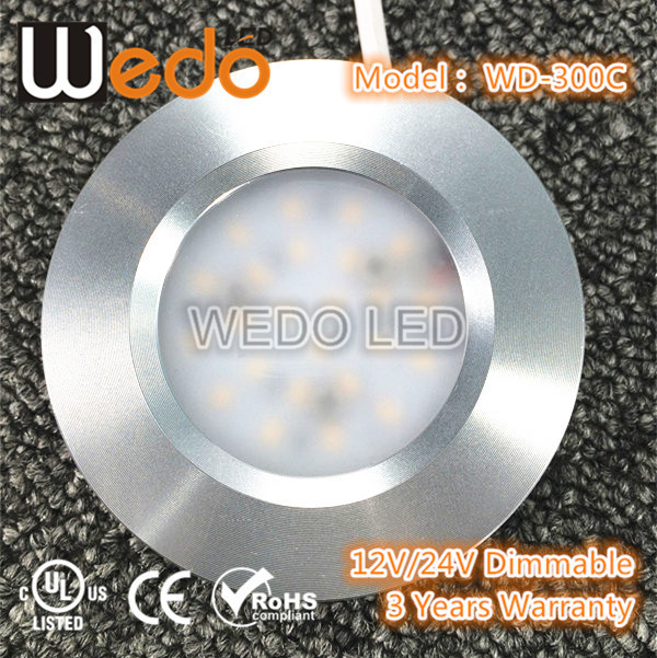 Surface Mounted 12v Led Puck Light ,Cabinet Furniture/ Elevator/ Ceiling /Show Case Museum/ Art Boat /Car Lighting